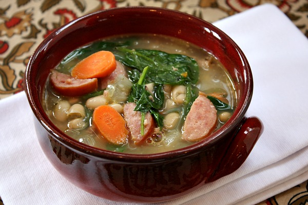 Simple Spinach and Sausage Soup