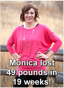 Monica weight loss pic
