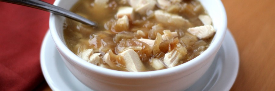 caramelized onion and chicken soup 2