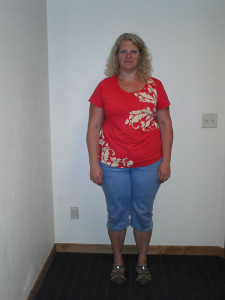 kristi before weight loss