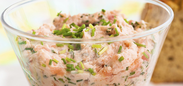 Herb infused salmon dip